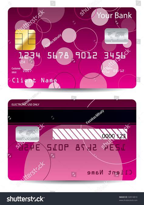 Pink Credit Card Digital by Pink Credit Card Stock Vector Illustration 50914810