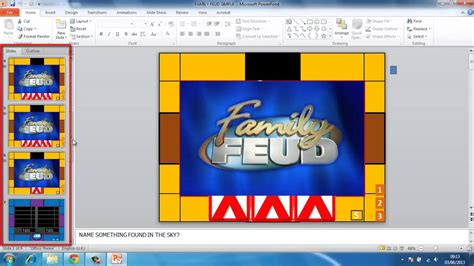 How To Make Powerpoint Games Family Feud Youtube Family Fued Power Point