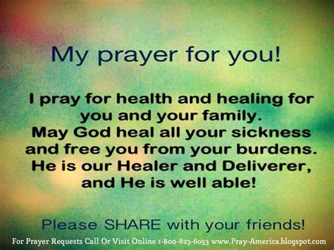 wellness prayers comfort healing i pray for health and healing or you and your family may