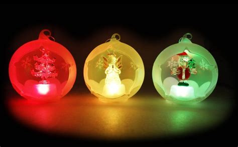 wagjag up to 70 off glass light up christmas ornaments