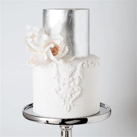 Trend White And Metallic by Wedding Trend Metallic Cakes 187 Paper Lace