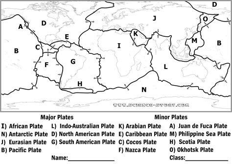 Plate Tectonics Worksheets For Middle School by Plate Tectonics Coloring Pages