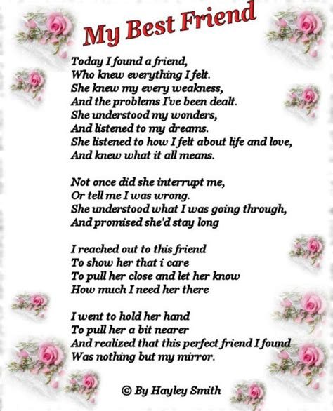 free poems friendship poems for best friends