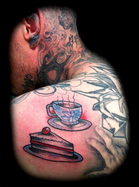 pie tattoo teacup and pie tattoomagz