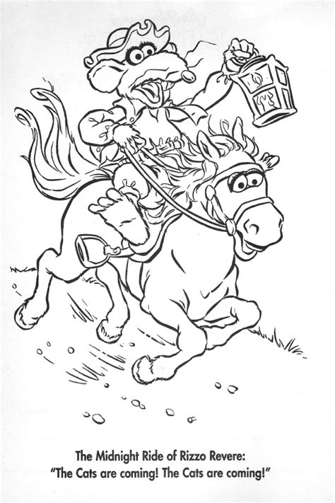 free coloring pages of paul revere