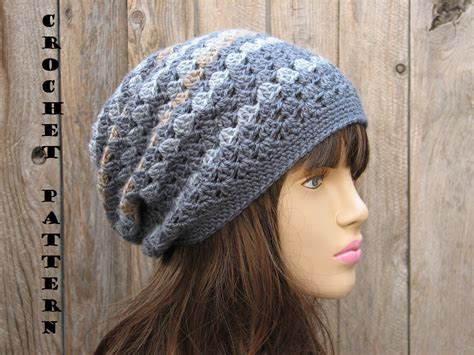crochet hat slouchy hat crochet pattern pdf easy great for beginners pattern no 27 on luulla