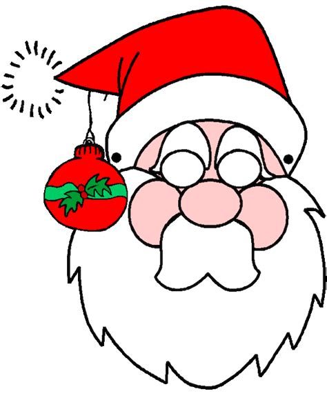 printable christmas masks christmas coloring pages