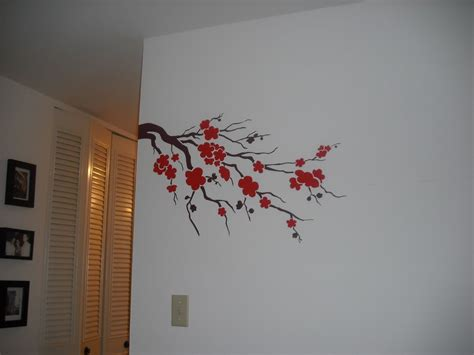 Bedroom Simple Wall Painting Design Flower Modern Also