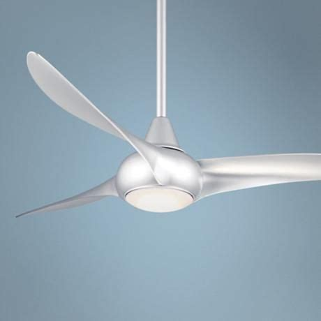 minka aire wave fan with light 52 quot minka aire light wave silver ceiling fan ceiling