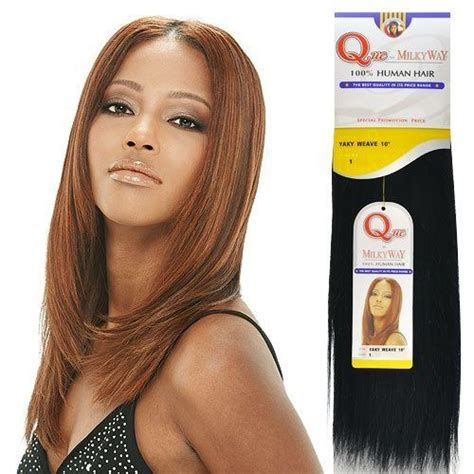 milky way hairs human hair weave milky way que yaky que 14 quot color 1b by