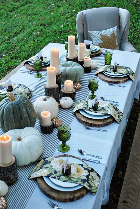 easy fall table decorating ideas   cheerful dinner