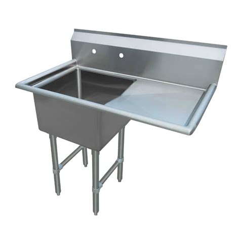 sauber select one compartment sink with right drainboard