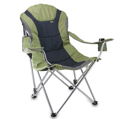 reclining foldable chair reclining c chair sage green picnic time 803 00 130