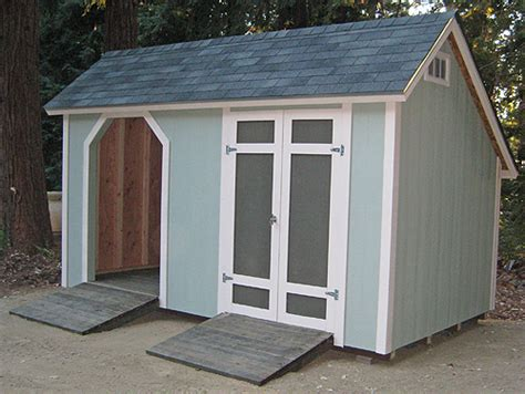 Saltbox Style Shed by California Custom Sheds 8x14 Custom Salt Box Shed