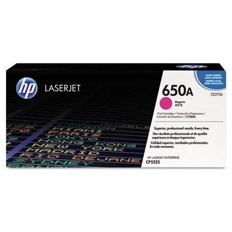 Toner Laserjet Hp 650a hp 650a ce273a magenta original laserjet toner cartridge