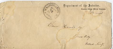 Weber County Utah Divorce Records Envelope