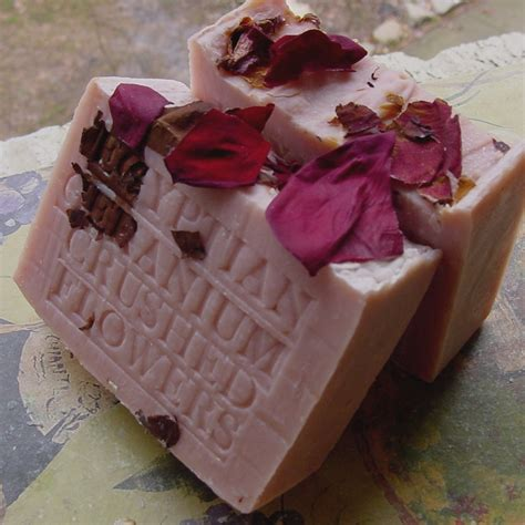 Handcrafted Soaps - handcrafted geranium soap with