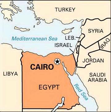 cairo on world map cairo location encyclopedia children s homework
