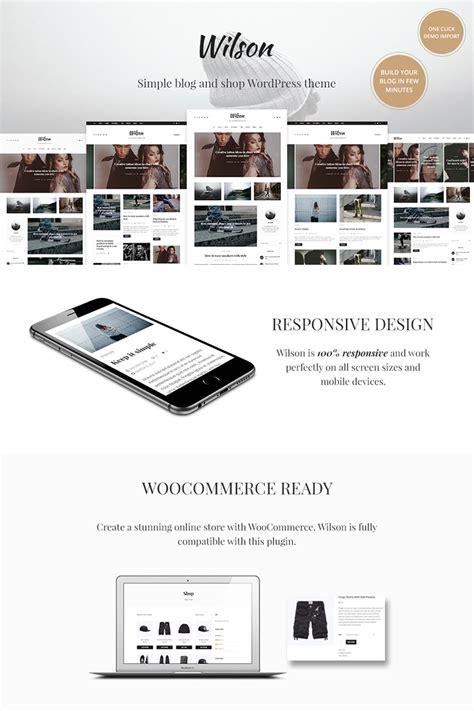 wordpress theme blog und shop wilson wordpress blog shop wordpress theme 67248