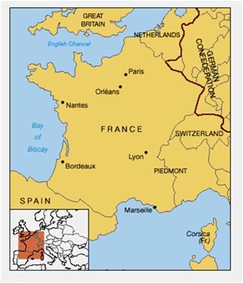 france since 1815 second 1444177907 maps