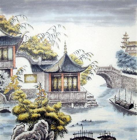 building painting chinese building paintings chinese painting blog