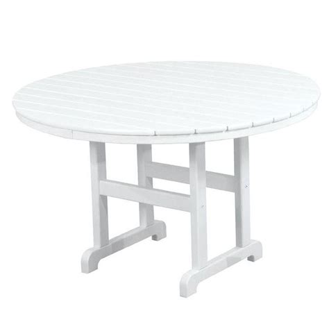 White Patio Dining Table by Polywood La Casa Cafe 48 In White Patio Dining