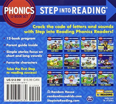 Step Into Reading Step 2 Phonics Reading With Help Silly Paw Patrol Phonics Box Set Paw Patrol Step Into Reading