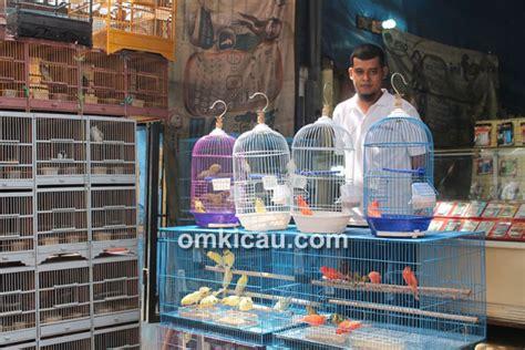 Lu Gantung Di Pasar Kenari kenari dan taiwan laris manis di pasar kolong