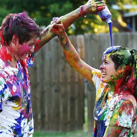 color water balloon fight best 25 paint fight ideas on color fight a