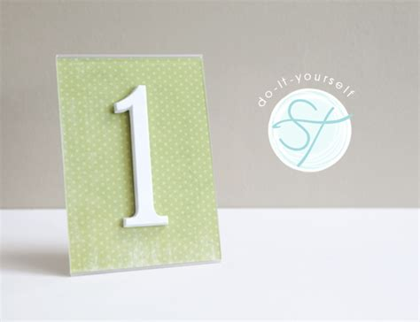 Table Number by Diy How To Turn Address Numbers Into Table Numbers