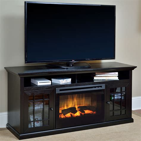 tv consoles with electric fireplace hazelwood electric fireplace media console gds25 1388dr