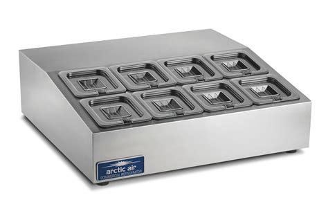 arctic air acp8sq 27 5 quot refrigerated compact 8 pan counter top prep unit