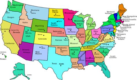 usa states map with states and capitals name states and capital name pictures to pin on