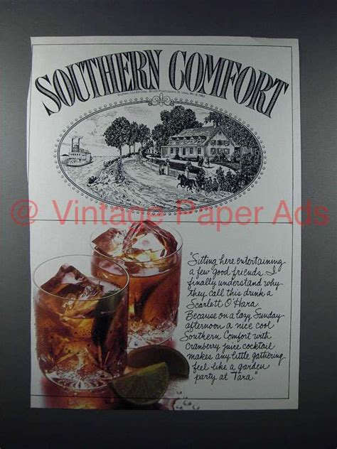 southern comfort ad 1985 southern comfort liquor ad