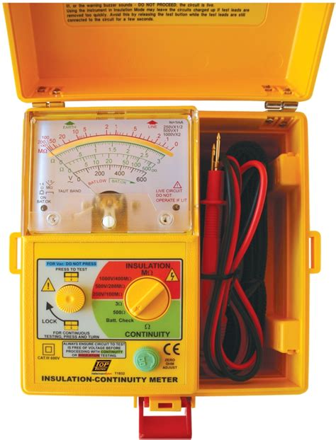Sew 1832 In Analog Insulation Tester toptronic tycom