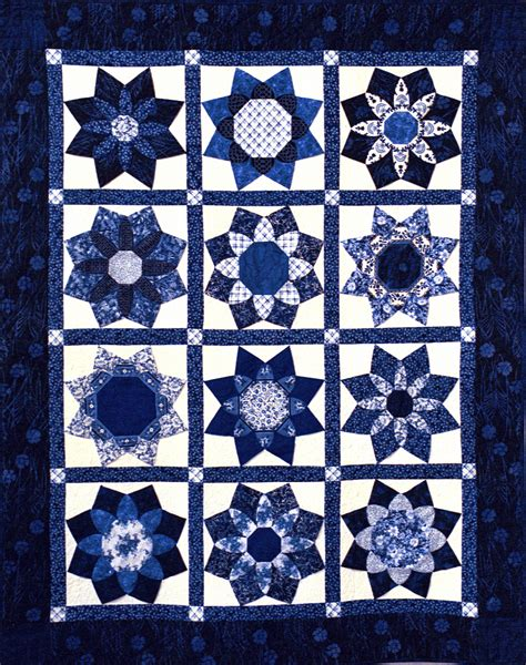 And Blue Quilt by Cathedral Windows Snips And Bits From Shelley S Studio