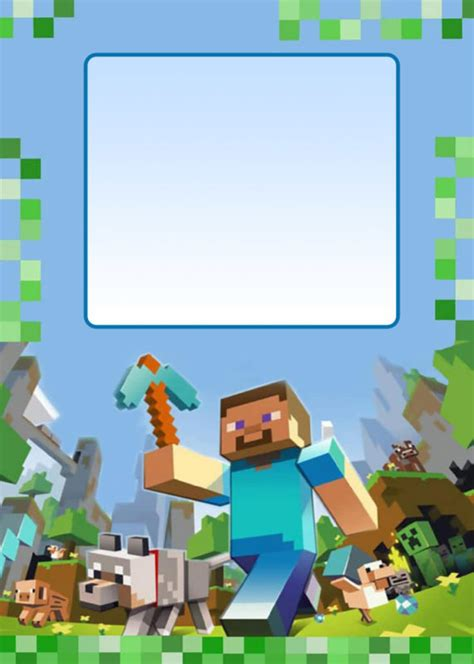 free minecraft birthday party invitations best party ideas