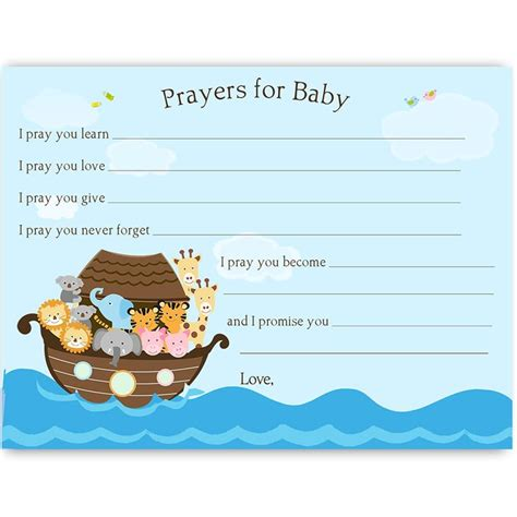 Opening Prayer For Baby Shower by Noah S Ark Prayers For Baby Card Baby Cards Prayer For