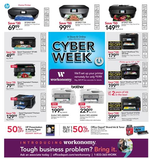 cyber monday office desk deals office depot officemax cyber monday ad 2018