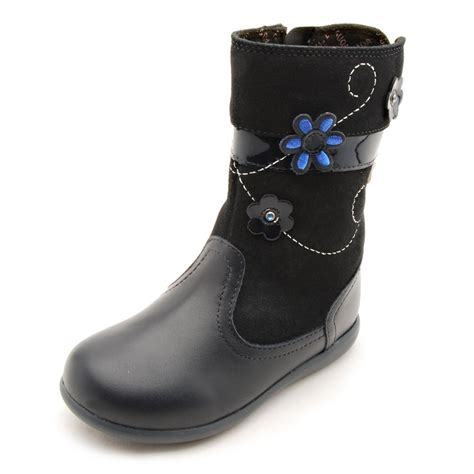 blue leather boots aqua navy blue leather waterproof boot