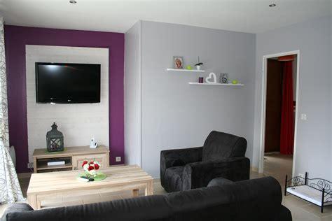 canapé mauve charmant idee deco salon gris et chambre mur gris et blanc