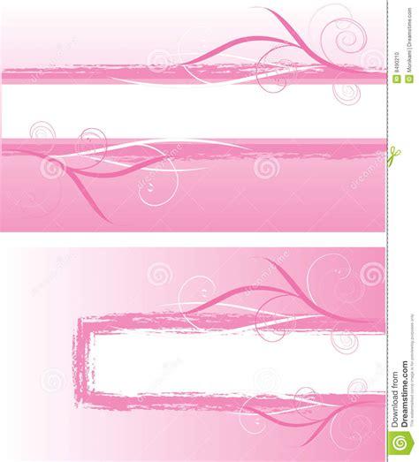 design elements banner pink banners design elements stock photo image 8490210