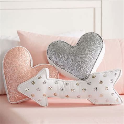 Shaped Pillows Sale by Shaped Sequin Pillows Pbteen