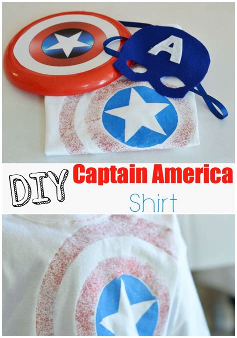 T641 Shirt New Captain America 09 diy captain america shirt eclectic momsense