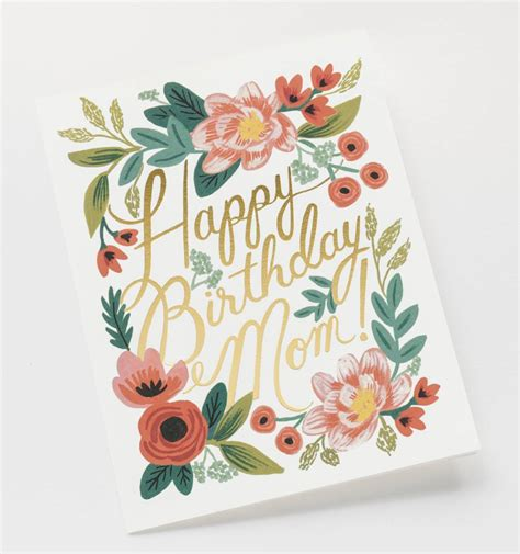 birthday card ideas for mom happy birthday mom single folded card matching envelope