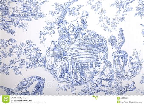vintage wallpaper blue and white blue and white french baroque pattern wallpaper stock