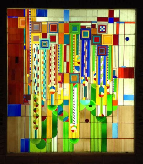 frank lloyd wright stained glass oak park illinois hemingway frank lloyd wright