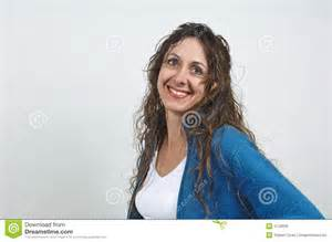 attractive middle aged hair attractive middle aged woman royalty free stock image