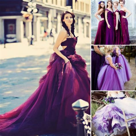 Purple Wedding Dress by How To Choose A Colored Wedding Dress Lunss Couture