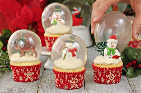 snow globes with snow globe cupcakes with gelatin bubbles sugarhero